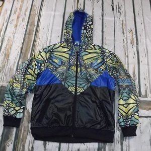 Adidas Fleece Lined Butterfly Jacket L Large
